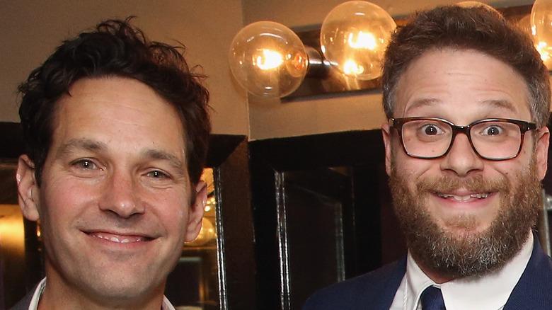 Seth Rogan and Paul Rudd smiling