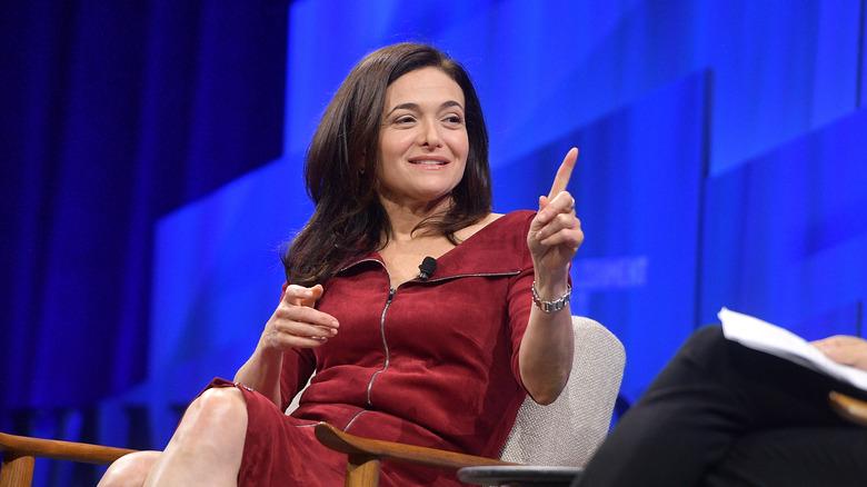 Sheryl Sandberg on stage