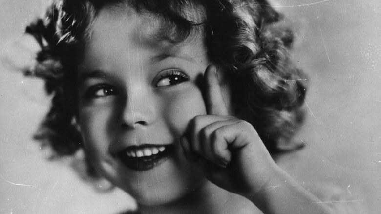 Shirley Temple smiling