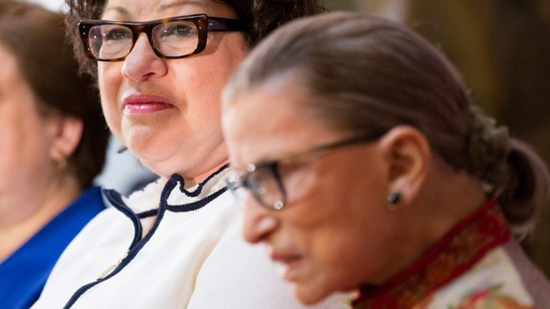 Justices Kagen, Sotomayor, and Ginsburg