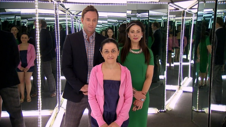 Stacy London, Clinton Kelly by mirror
