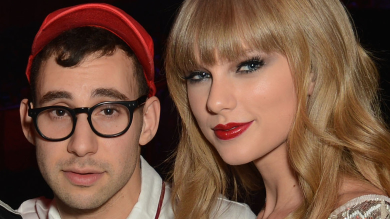 Taylor Swift and Jack Antonoff at an event