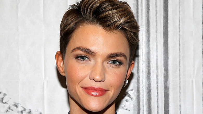 Ruby Rose posing for photo