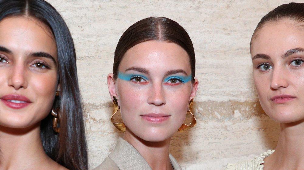 model with colorblock eyeshadow