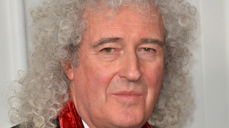 Brian May posing