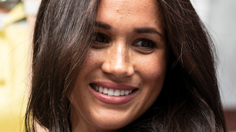 Meghan Markle with flowing hair