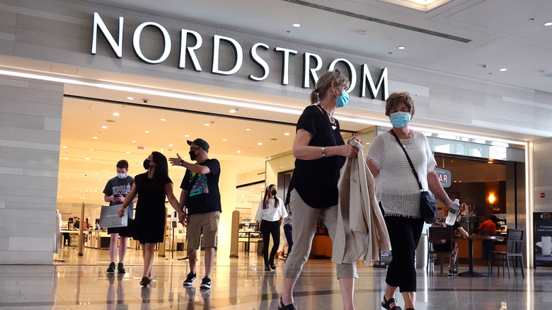 People shopping at Nordstrom store