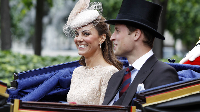 royal family members Kate Middleton and Prince William