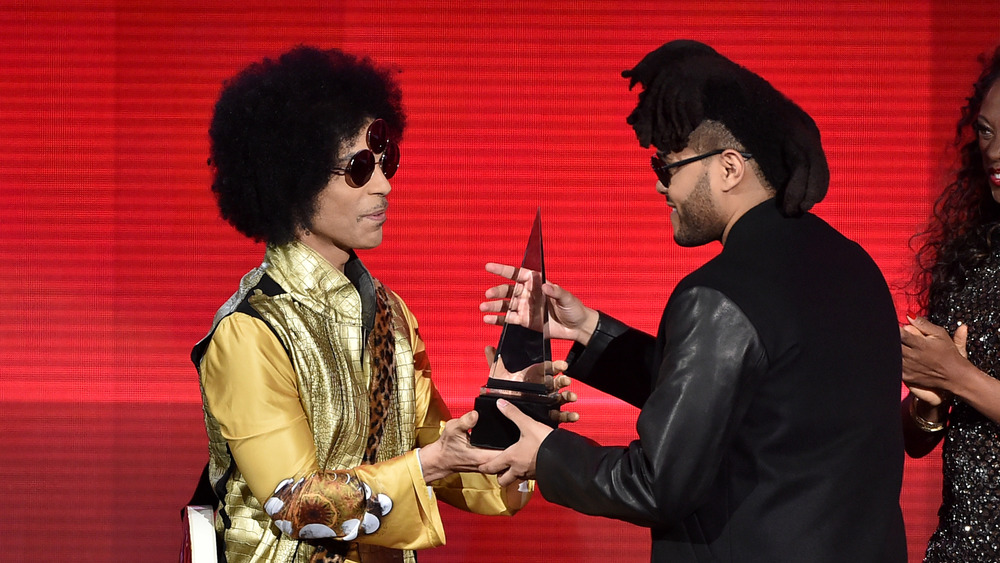 The Weeknd and Prince 2015 AMA's