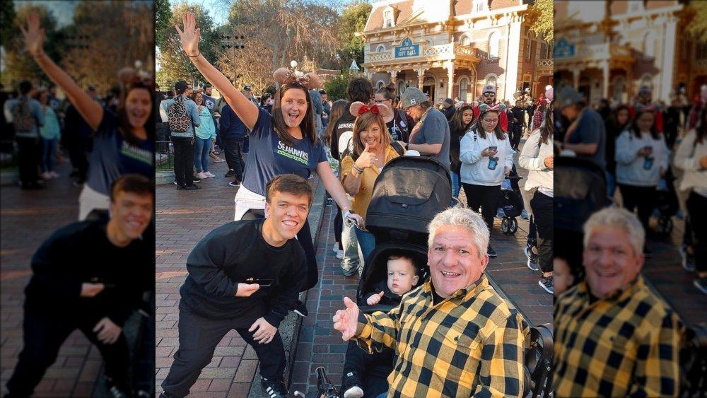 Tori Roloff with her family, Matt Roloff, and Matt's girlfriend, Caryn Chandler, at Disneyland