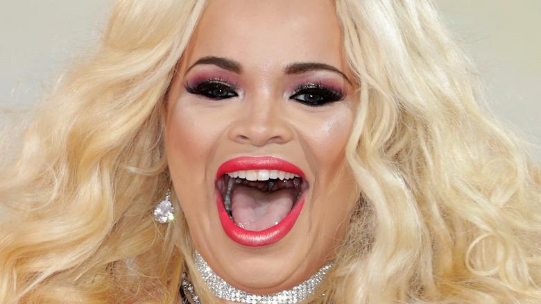 Trisha Paytas smiling mouth