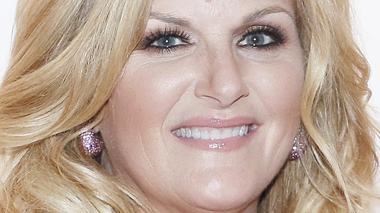 A closeup of Trisha Yearwood's face