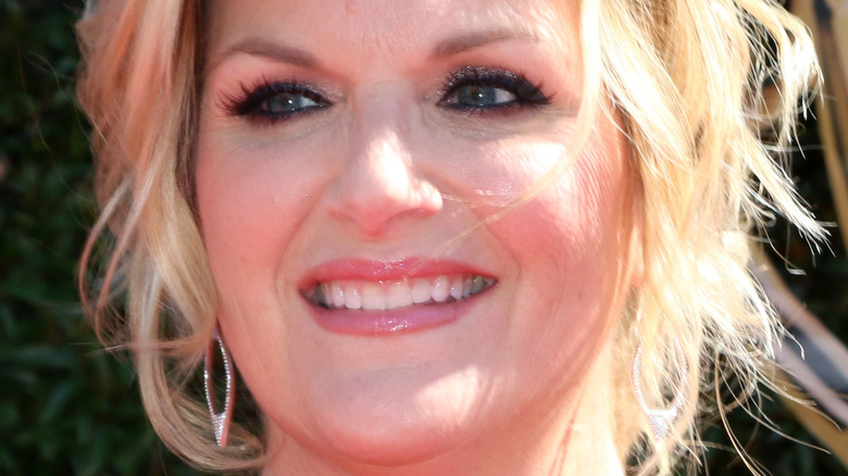 Trisha Yearwood close up with her hair up