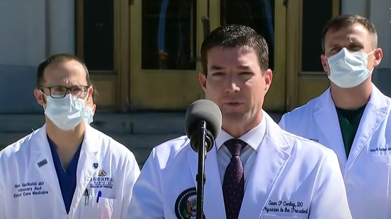 Walter Reed press conference 10/3