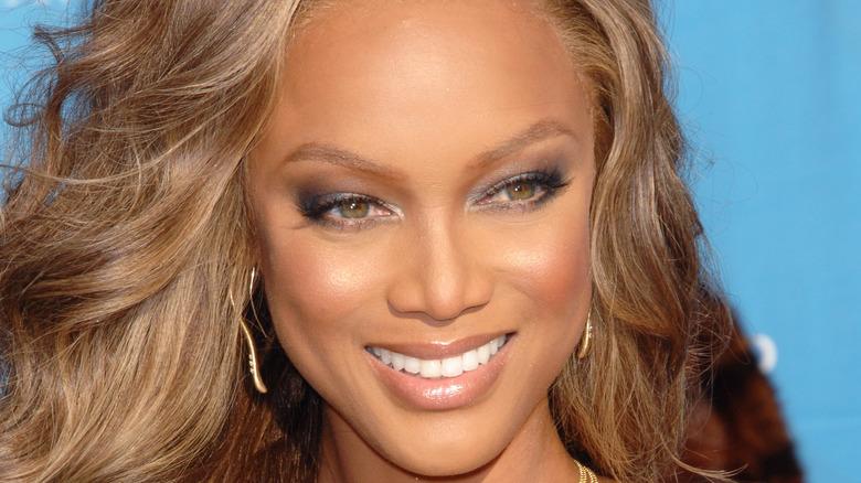 Close-up of Tyra Banks smiling