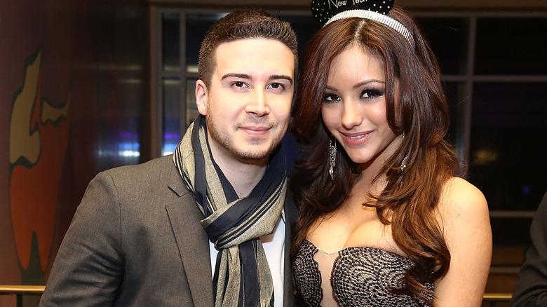Vinny Guadagnino and Melanie Iglesias posing