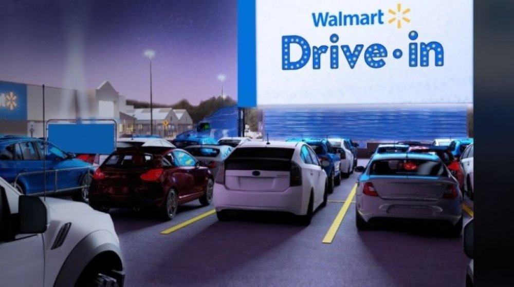 Walmart Drive-in Movie sign