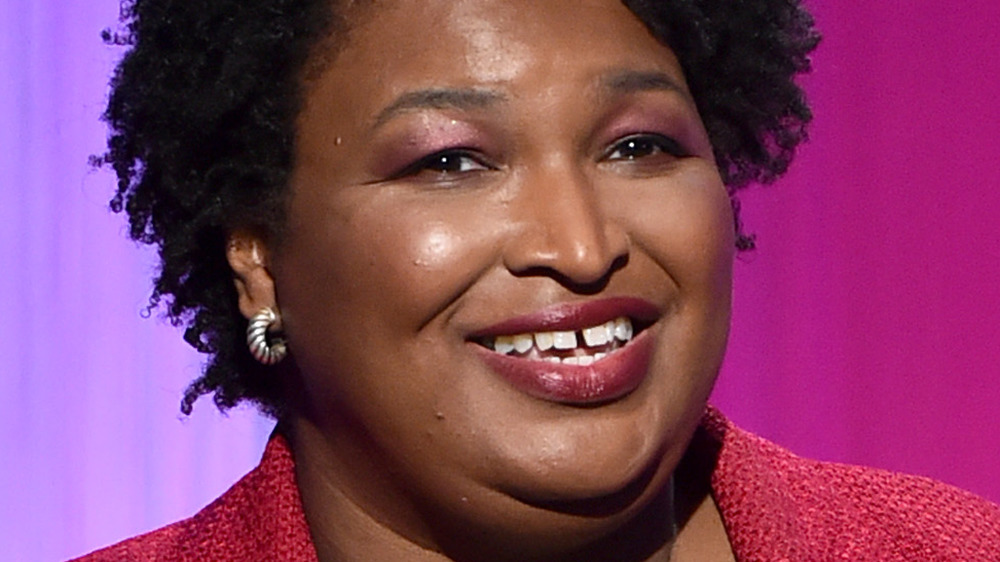 Stacey Abrams talking