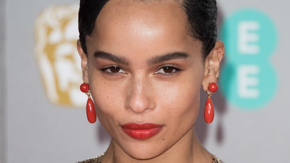 Zoe Kravitz with red lips