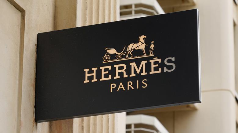 Hermes storefront sign