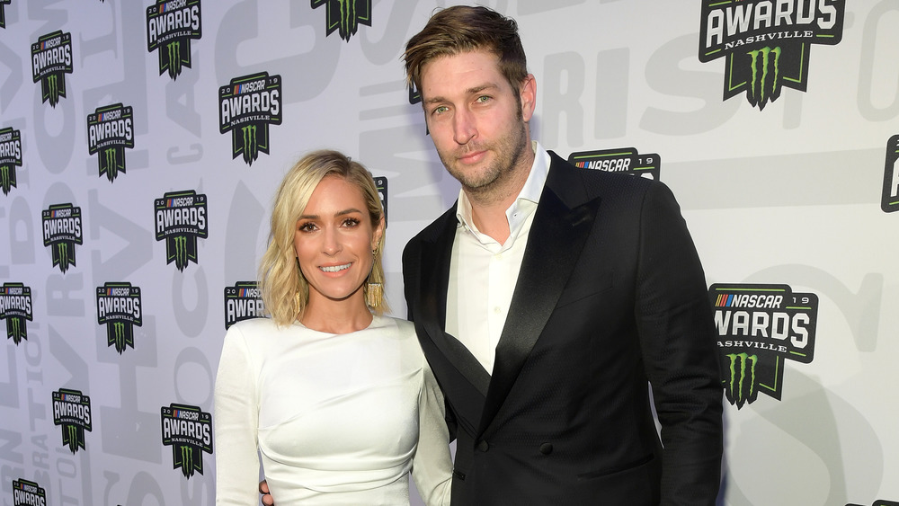 Kristin Cavallari and Jay Cutler pose together at event