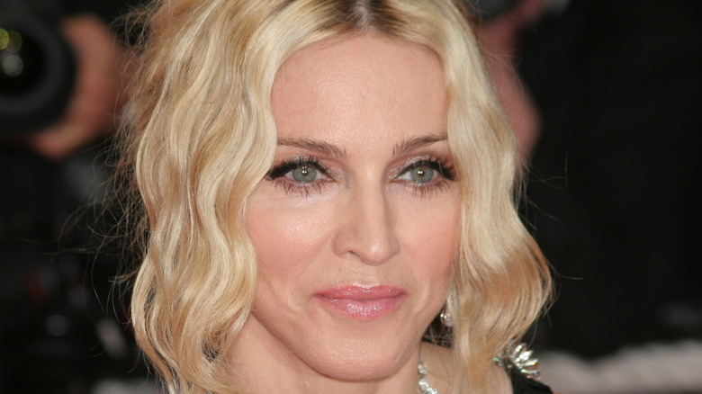 Madonna smiling at Cannes