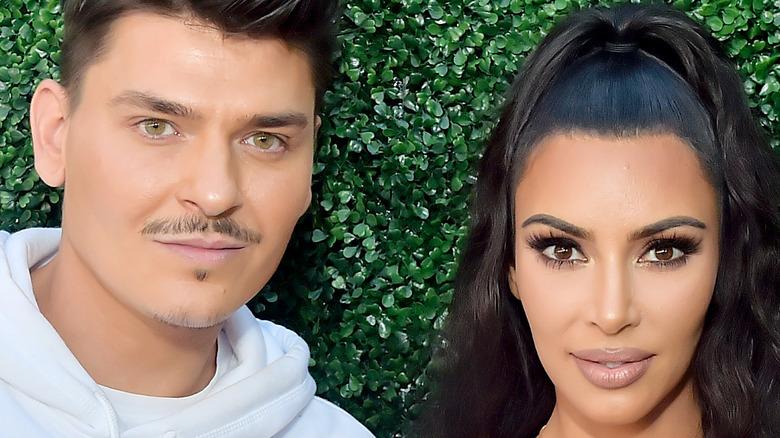 Kim Kardashian and makeup artist Mario Dedivianovic