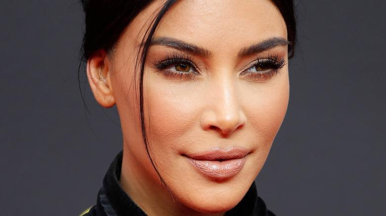Kim Kardashian wears her hair up