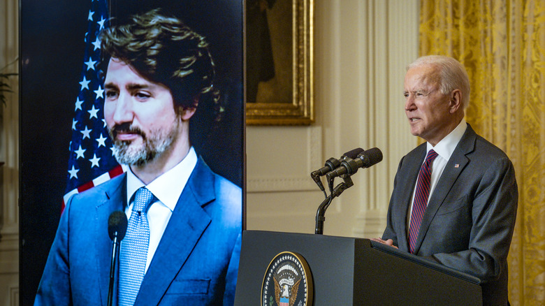 Biden and Trudeau teleconference