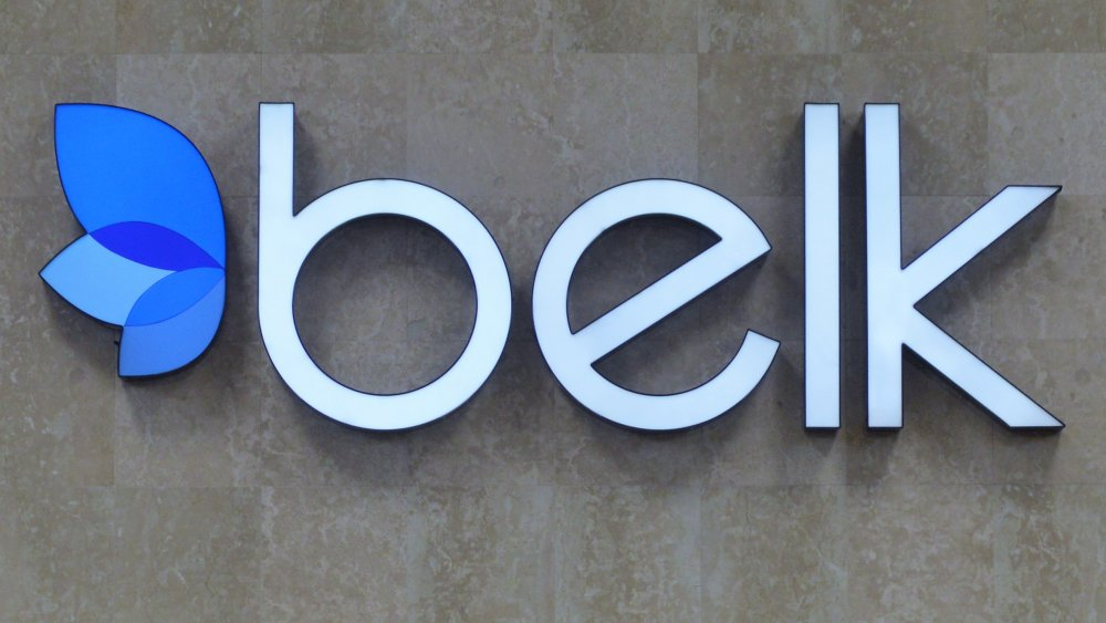 front of Belk store