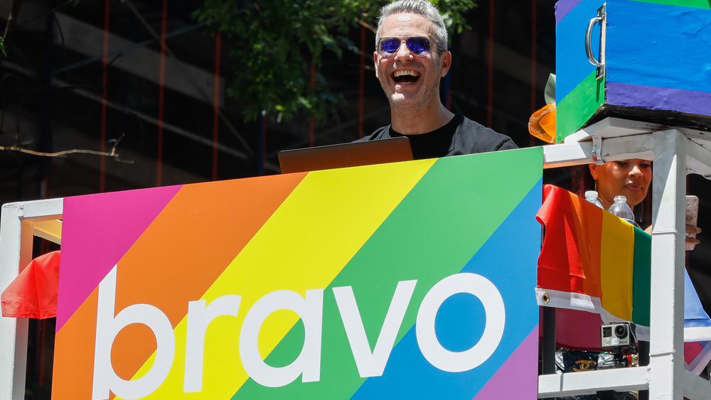 Andy Cohen at a 2019 Pride Parade