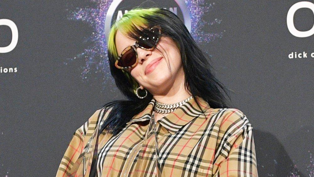 Billie Eillish wearing Burberry