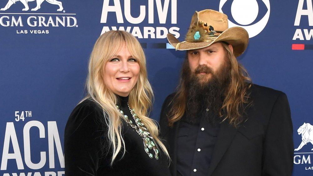 Chris Stapleton and his wife, Morgane Stapleton
