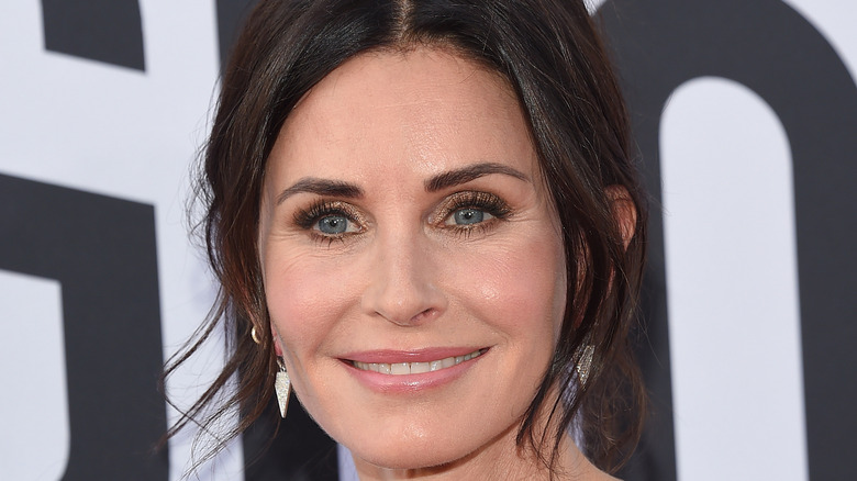 Close-up of Courteney Cox smiling