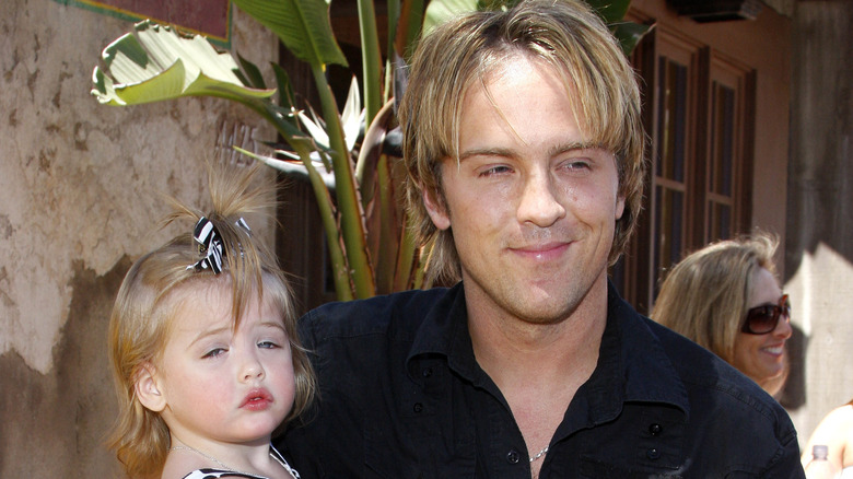 Larry Birkhead holding baby Dannielynn