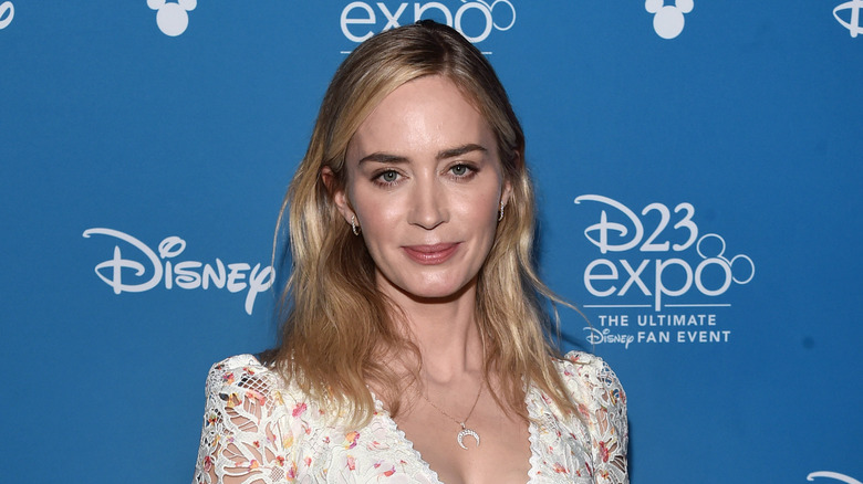 Emily Blunt at a Disney event in 2019