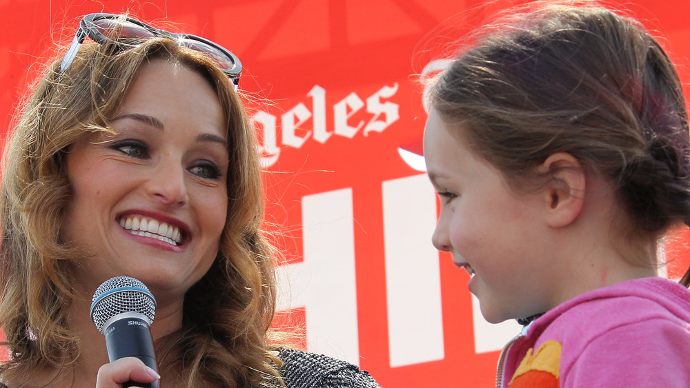 Giada de Laurentiis and her daughter Jade, close-up
