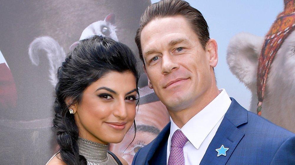 John Cena and his wife Shay Shariatzadeh at a movie premiere