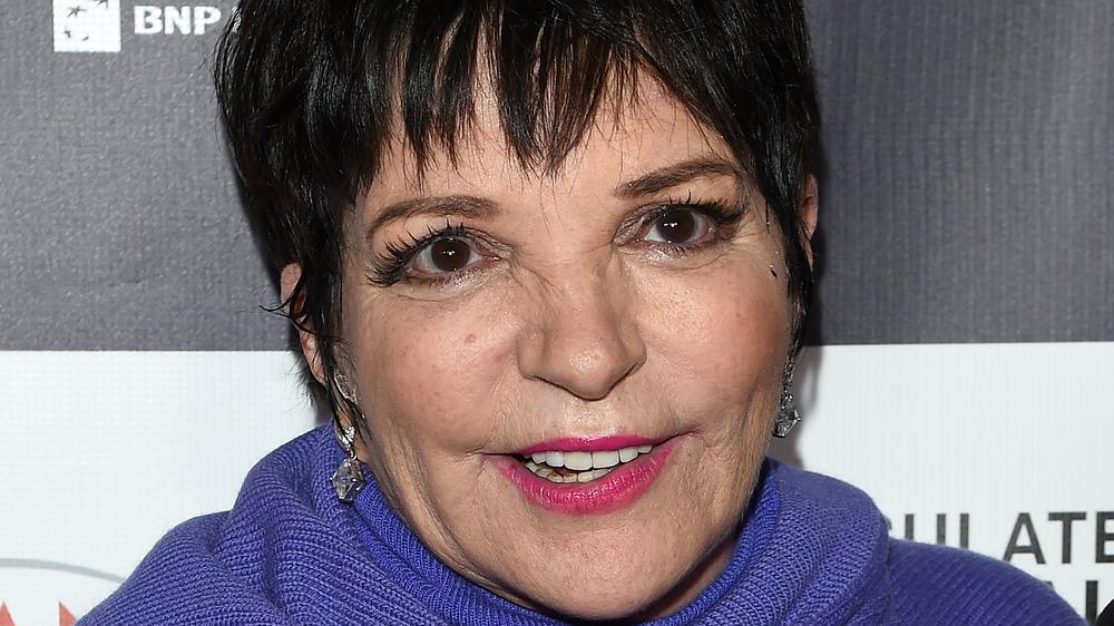 Liza Minnelli smiling, close-up