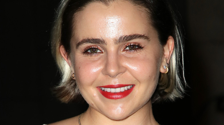 Mae Whitman smiling, close-up