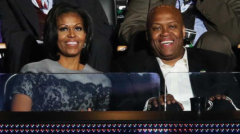Craig Robinson and Michelle Obama