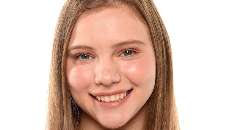Jade Carey smiling