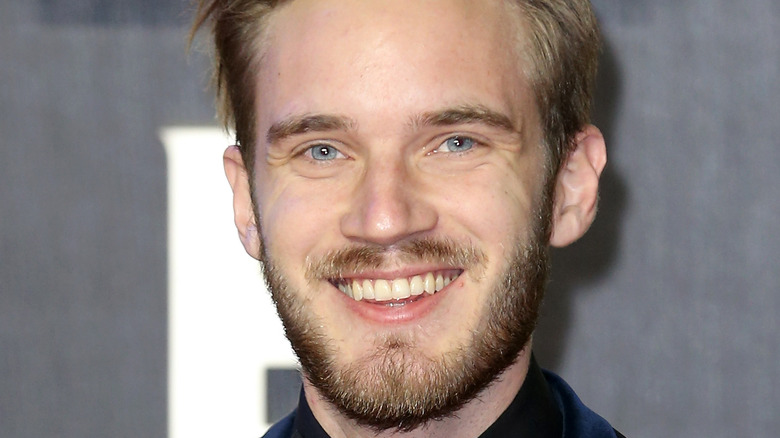 PewDiePie at an awards ceremony