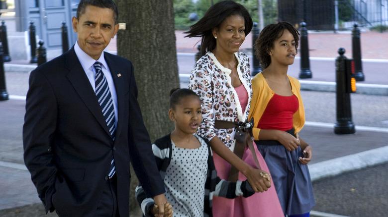 The Obama family including Sasha Obama
