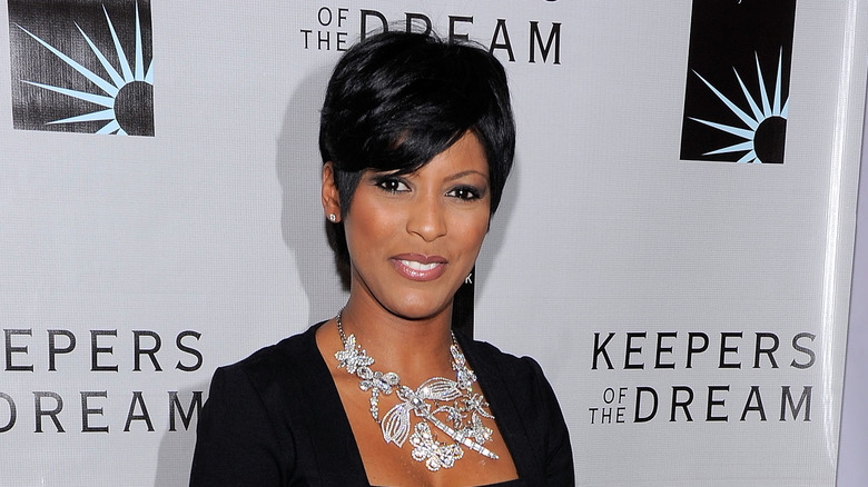 Tamron Hall wearing a bold necklace