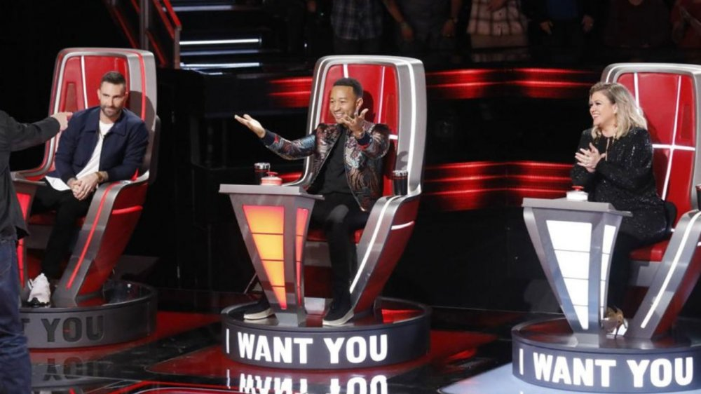 Four of the judges on The Voice