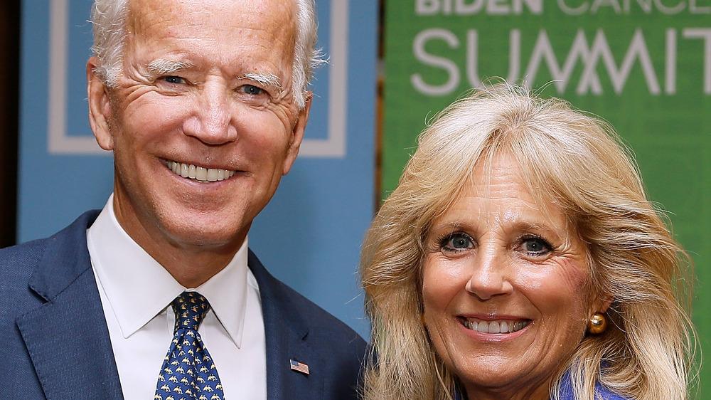Joe and Jill Biden at an event