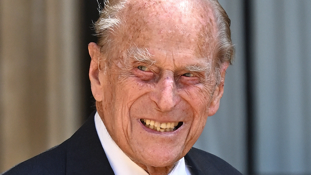 Prince Philip smiling, close-up