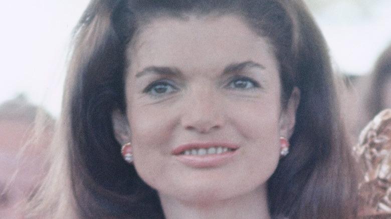 Jackie Kennedy smiling