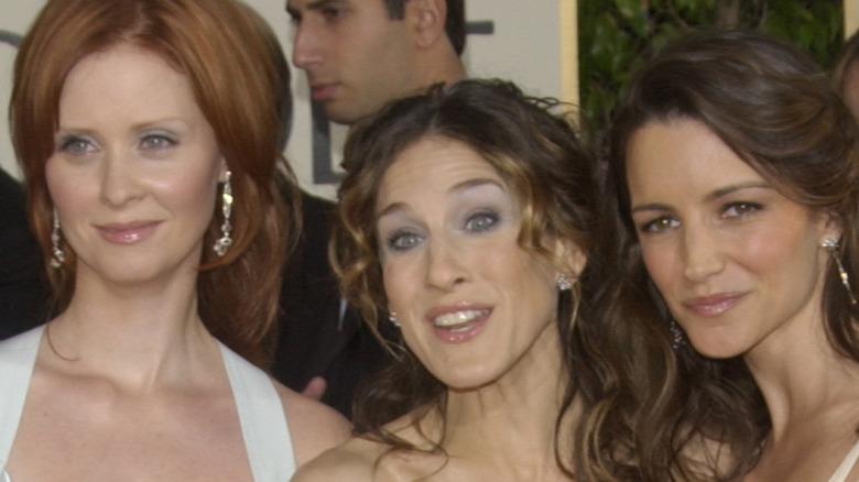 Kristin Davis, Cynthia Nixon, and Sarah Jessica Parker on red carpet